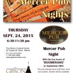 Mercer Pub Night with Boomerang!