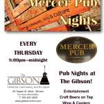Pub Nights at the Gibson - Every Thursday!