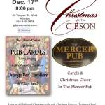 Carols & Christmas Cheer in the Mercer Pub