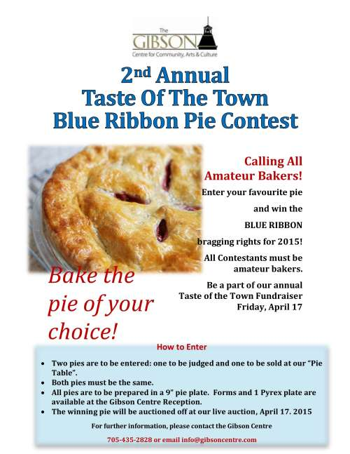2nd Annual Taste of the Town Blue Ribbon Pie Contest 2015