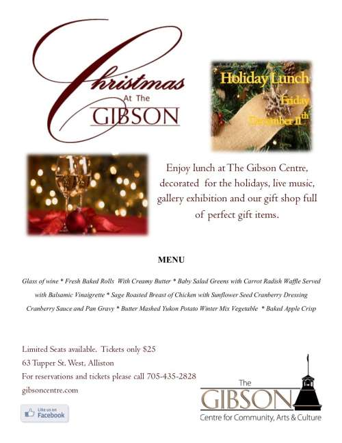 Christmas at The Gibson Holiday Lunch