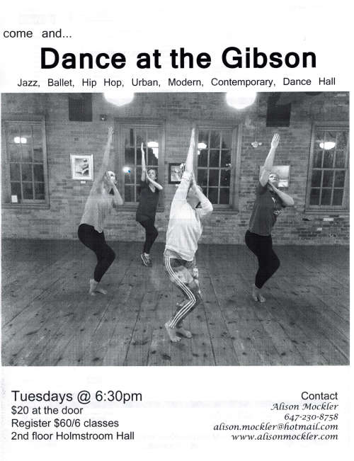 "Dance at The Gibson ""Spring Classes 2016"""