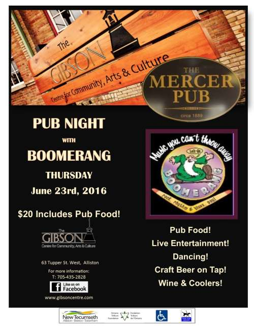 Pub Night with Boomerang - June 23rd