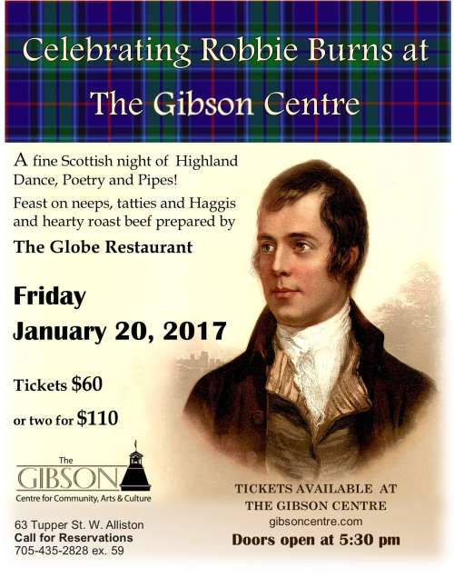 Celebrating Robbie Burns 2017