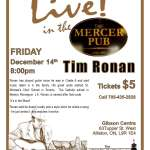 Tim Ronan Live in the Mercer Pub