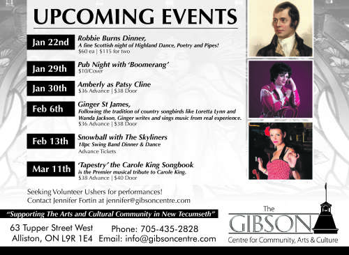 Upcoming Events in the New Year!