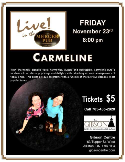 Carmeline - Live in the Mercer Pub