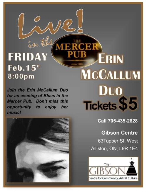 Erin McCallum Duo, Live in the Pub