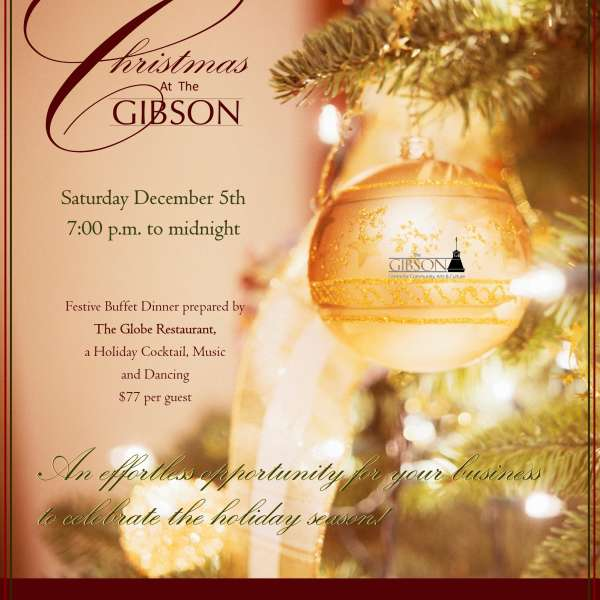 Christmas at The Gibson Festive Dinner - Dec 5, 2015