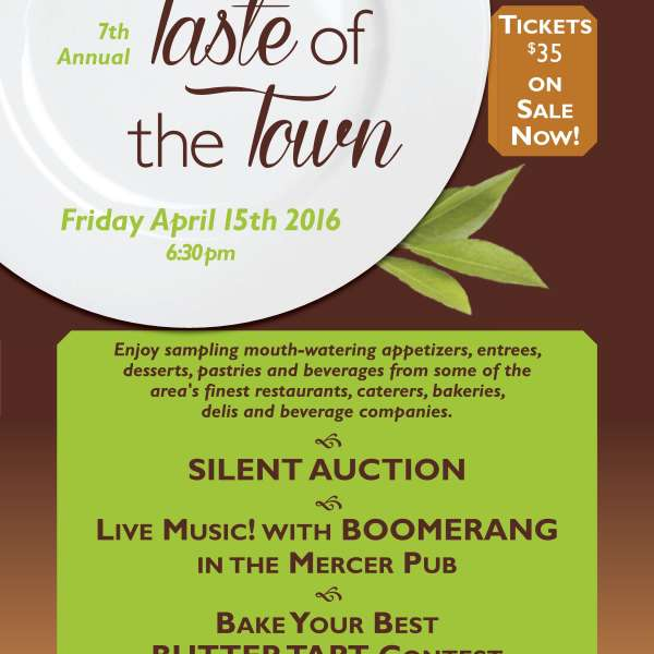 7th Annual Taste of the Town - April 15th, 2016