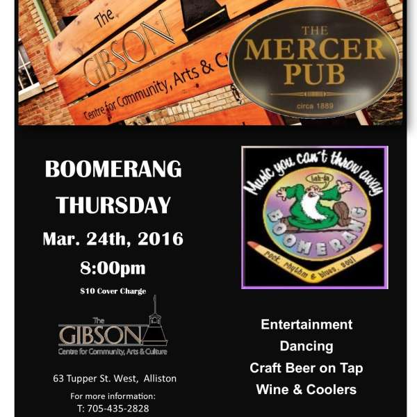 Pub Night with Boomerang - March 24th 2016
