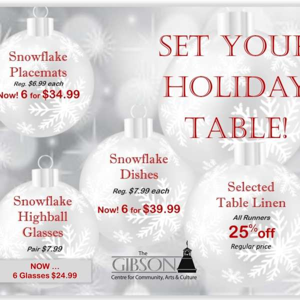 Gibson Holiday Market Sale