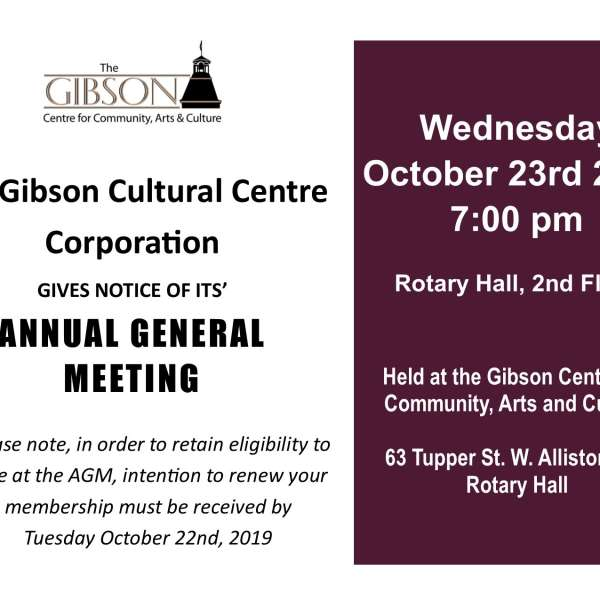 Gibson Cultural Centre Annual General Meeting