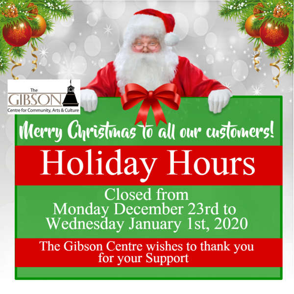 Closed for the Holidays